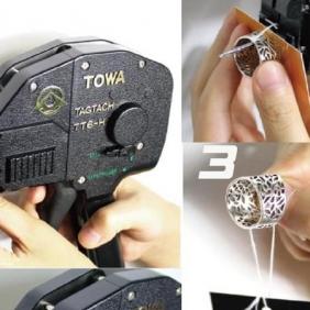 Japan TOWA thread gun  jewelry tag gun  price tag strap gun
